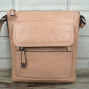 Giani Bernini soft pink leather crossbody bag